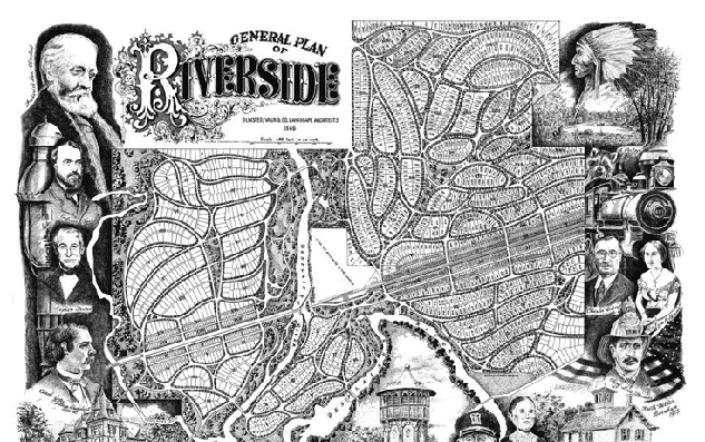 General Plan of Riverside Black and White