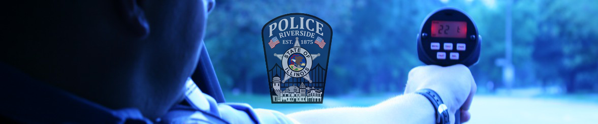 Holding Radar Police Department Banner
