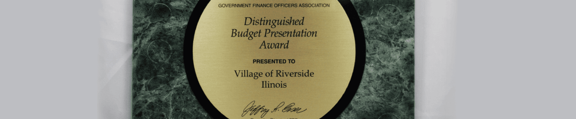 Award Recognizing the Finance Department